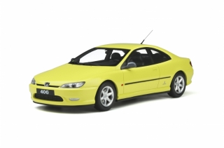 Peugeot 406 V6 Coupe 1997 yellow 1:18 OttOmobile