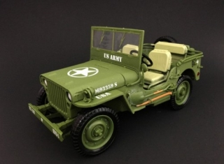 Jeep Willys US Army 1944 army green 1:18 American Diorama
