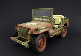 Jeep Willys *Military Police* 1944 dirty version 1:18 American Diorama