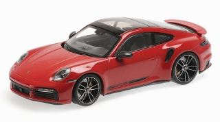 Porsche 911 992 Turbo S Coupe 2020 red 1:18 Minichamps