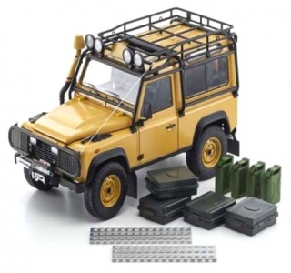 Land Rover Defender 90 yellow 1:18 Kyosho