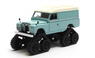 Land Rover Land 109 II Series Cuthbertson Conversion Cingolato 1958 turquoise 1:43 Matrix Scale Models